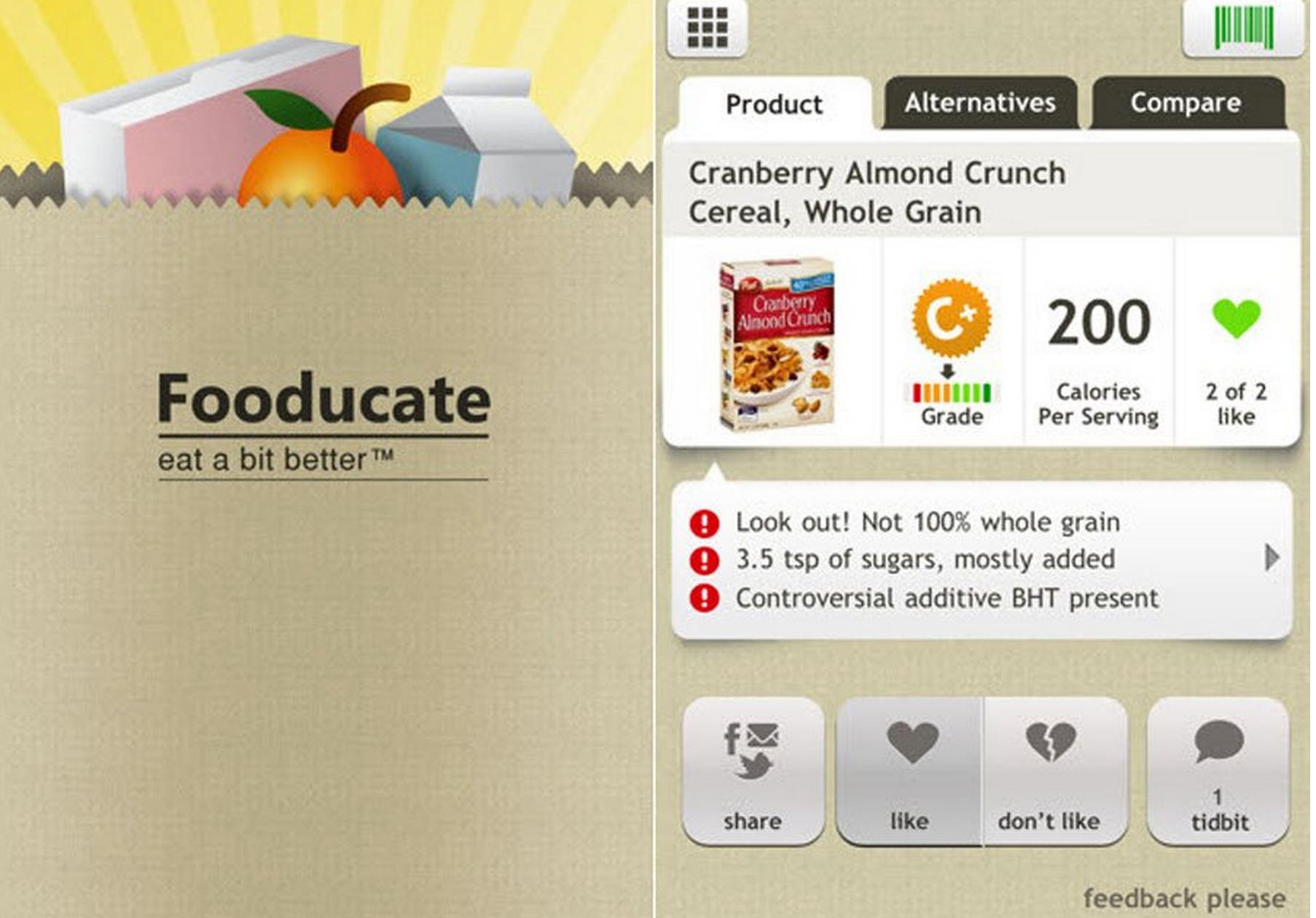 Fooducate, Favorite App