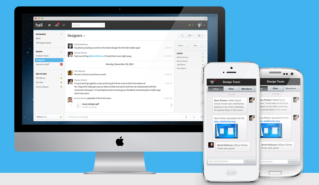 Group Text and Instant Messaging for Companies