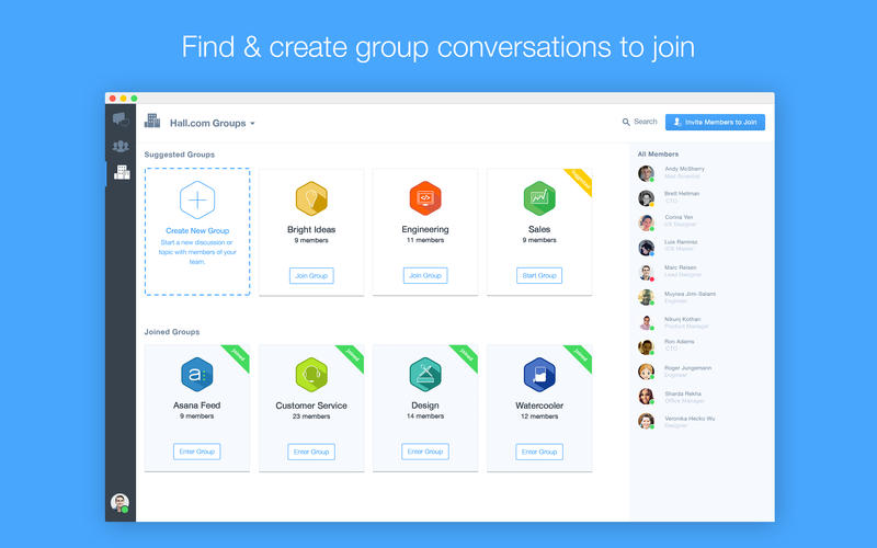 Instant Messaging Companies : Startup monday hall group chat and instant messaging
