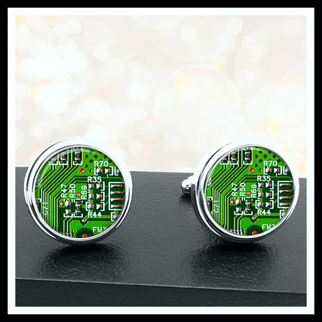 Circuit Board Cuff Links Father's Day Gifts