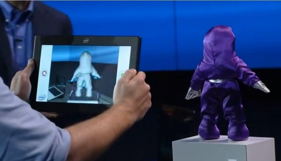 Intel RealSense 3D scanning object