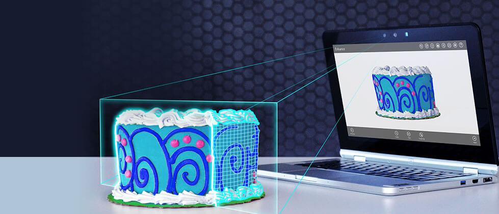Intel RealSense physical cake to digital cake