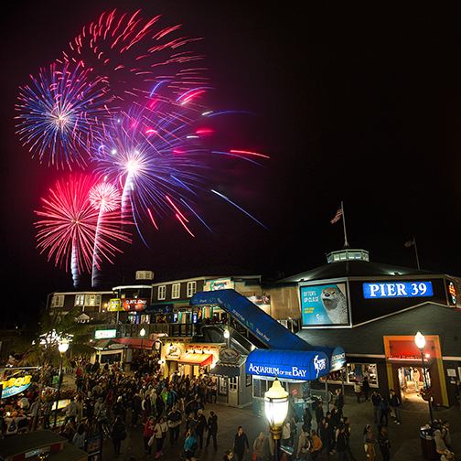 San Francisco Pier 39 during the 4th of July
