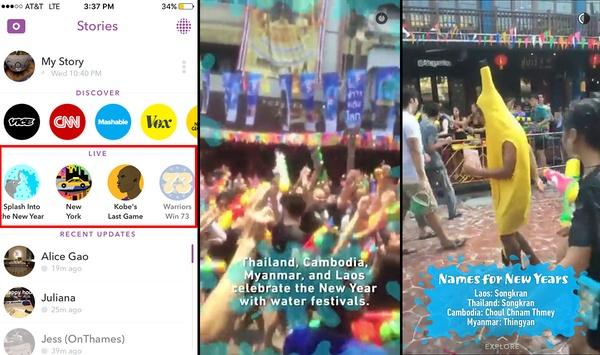 Live Story on Snapchat