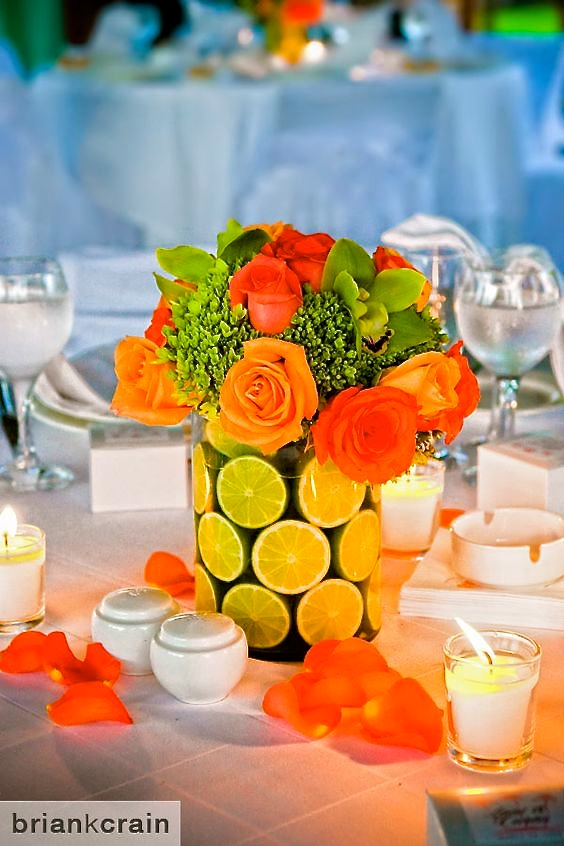 Line Fall Centerpieces