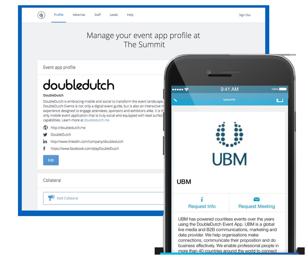 DoubleDutch Exhibitor Portal