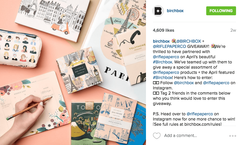 Birchbox Instagram Contest