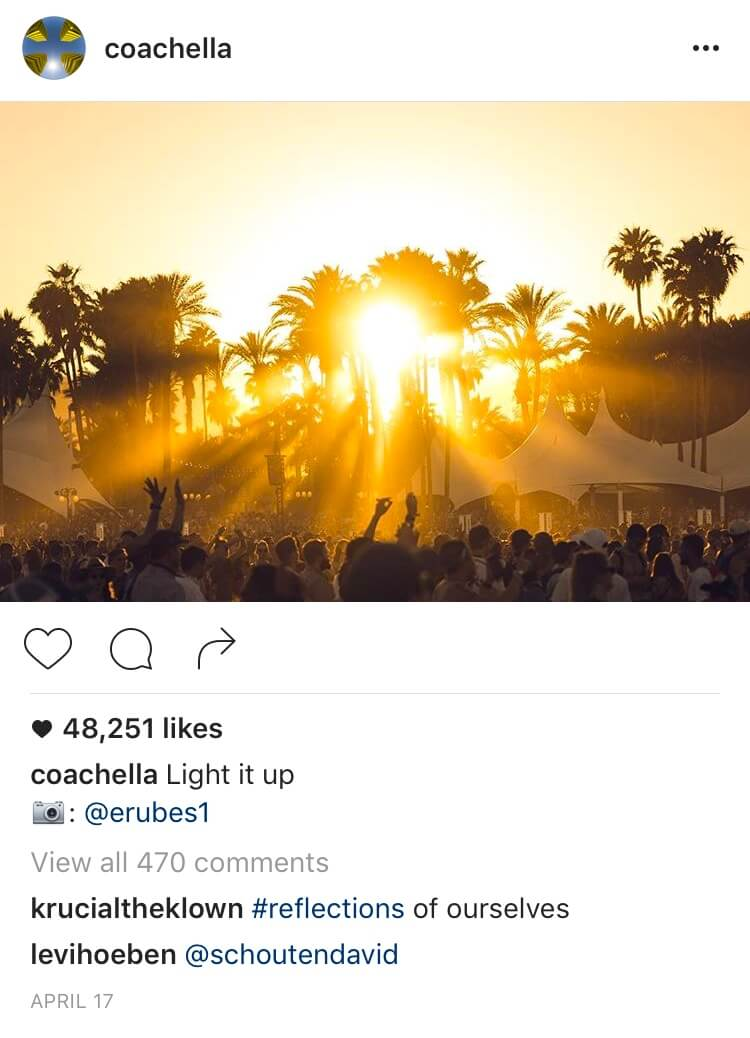Coachella Instagram photo