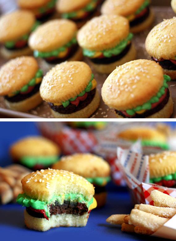 Burger Cupcake Dessert