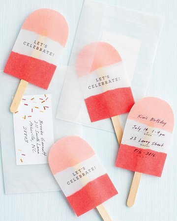 DIY Popsicle Stick Invitations