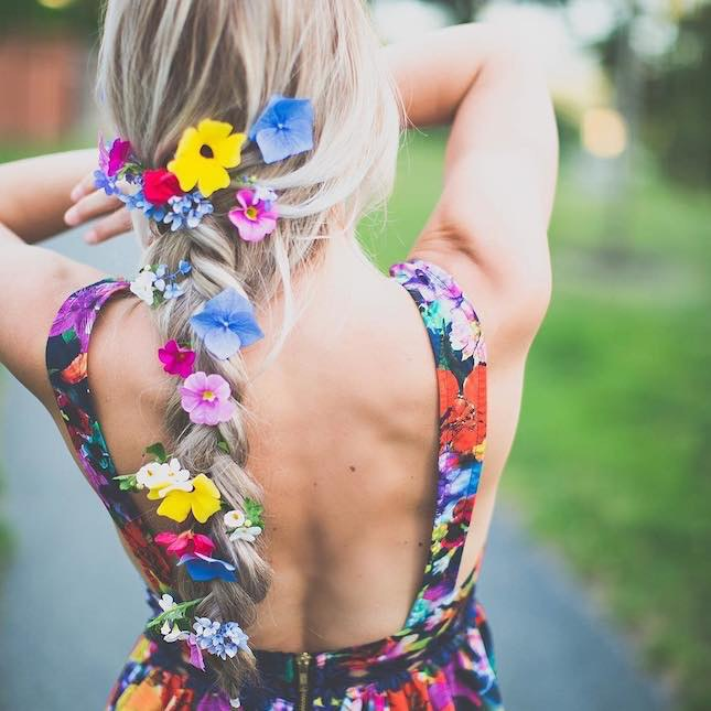 Rainbow Floral Braid