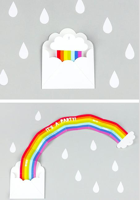 DIY Rainbow Invitations