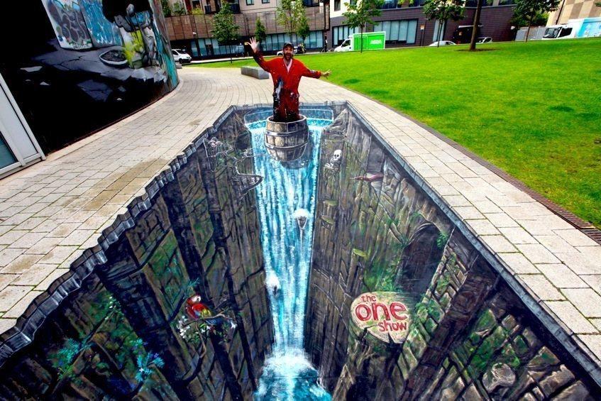 Live 3D Graffiti Art