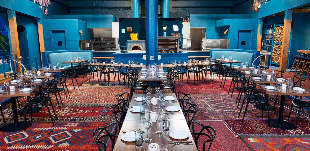 The inisde of Palette restaurant
