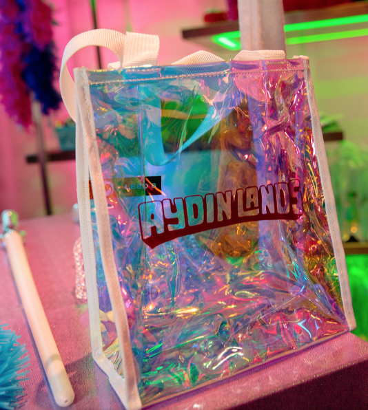 "Iridescent tote gift bags for "" Festival Merch"" by PC Nametag"